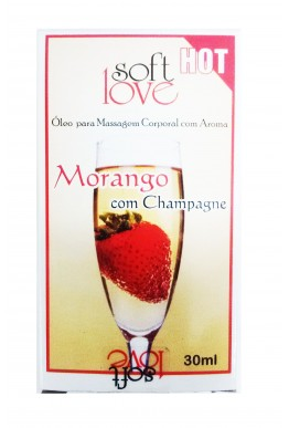 GEL BEIJAVEL MORANGO COM CHAMPAGNE HOT 30ml